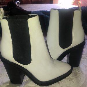 Aldo white booties